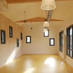 Salle de classe de l'extension bois